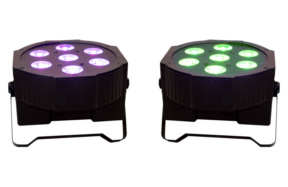 uplighting led flat par